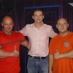 Kamil Bazelak, Przemysław Babiarz na łyżwach i Piotr Dybus w programie Gwiazdy tańczą na lodzie