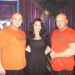 Piotr Dybus,Ewa Sonnet i Kamil Bazelak w programie Gwiazdy tańczą na lodzie