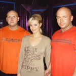 Piotr Dybus,Ewelina Serafin i Kamil Bazelak w programie Gwiazdy tańcza na lodzie