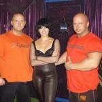 Piotr Dybus,Tatiana Okupnik i Kamil Bazelak programie Gwiazdy tańcza na lodzie
