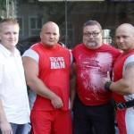 Kamil Bazelak i Waldemar Rafiński na pokazach strongman w Nowym Brzesku
