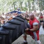 Kamil Bazelak na pokazach strongman w Nowym Brzesku