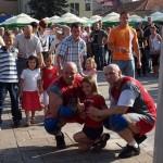 Kamil Bazelak i Piotr Dybus na pokazach strongman w Brzesku