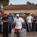 Kamil Bazelak na pokazach strongman w Brzesku