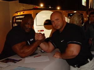 Ronnie Coleman i Kamil Bazelak -FIBO 2006