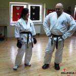 Kamil Bazelak na pokazach karate dla gimnazjalistów w Niedzborzu