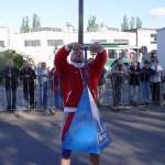Robert Szczepański z 45kg wagą płaczu na pokazach strongman dla MPK w Łodzi