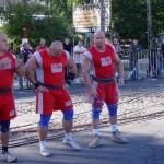 Waldemar Raiński, Kamil Bazelak i Robert Szczepański na pokazach strongman dla MPK Łódź
