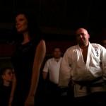 Kamil Bazelak wychodzący do ringu na gali Łomżyński Fight Night II