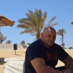 Kamil Bazelak w Marsa Alam w Egipcie