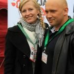 Kamil Bazelak i Agnieszka Chmurzyńska na pokazach psów organizowanych przez Fundację Przyjazna Łapa w Puławach