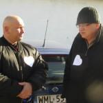 Kamil Bazelak i Wiesław Hadegrony przed Marszem Białych Serc w Mławie