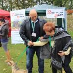 Kamil Bazelak na pokazach psów organizowanych przez Fundację Przyjazna Łapa w Puławach