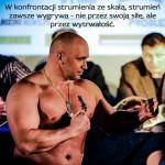 Kamil Bazelak na ważeniu przed walką z Adamem Koprowskim