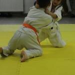 Karate w Andrespolu. Na zdjęciu Zuzanna Wałoszek i Dorian Błaszków