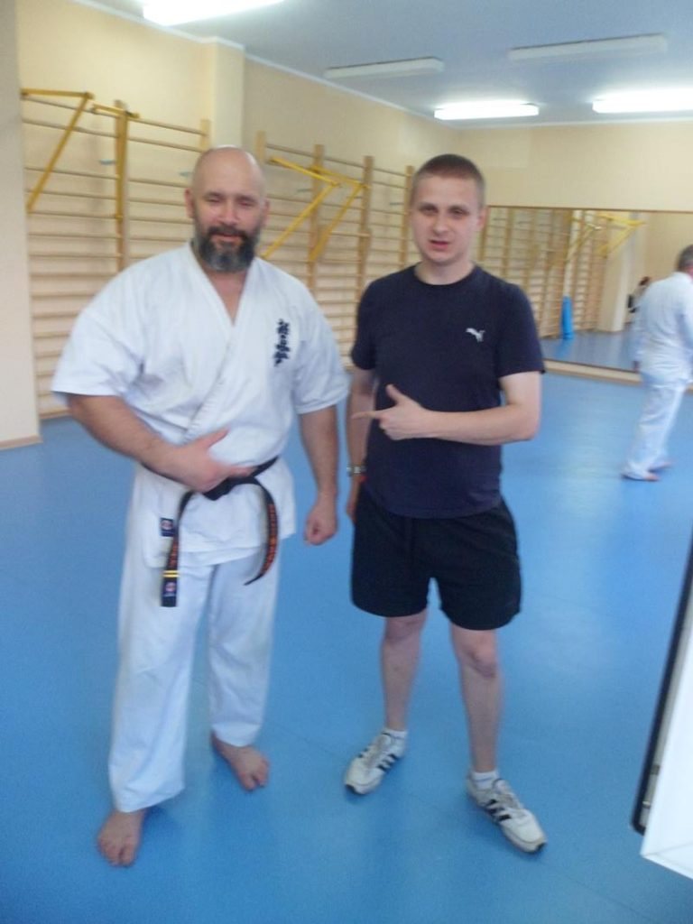 16 Obóz letni Kyokushin Andrespol Kokoro Dojo Kamil Bazelak, Grzegorz Prokop