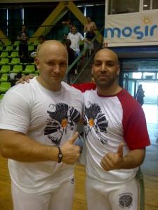 Aluno Kamil Bazelak i Instrutor Ovo