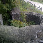 Fragment muru obronnego na Zamku w Rabsztynie