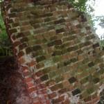 Fragmentu muru Zamku w Borysławicach Zamkowych