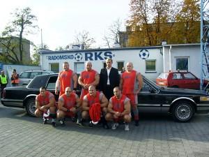 Na zdjęciu od lewej Adam Małż, Robert Szczepański,Waldemar Rafiński,Artur Patyk,Kamil Bazelak,Sławomir Orzeł,Mariusz Koniecki