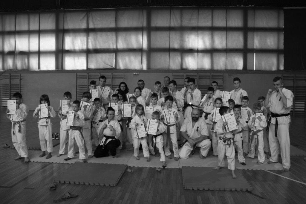 3 Mistrzostwa Gminy Andrespol Kyokushin IBK Kamil Bazelak,Małgorzata Ubowska, Mateusz Bazelak,