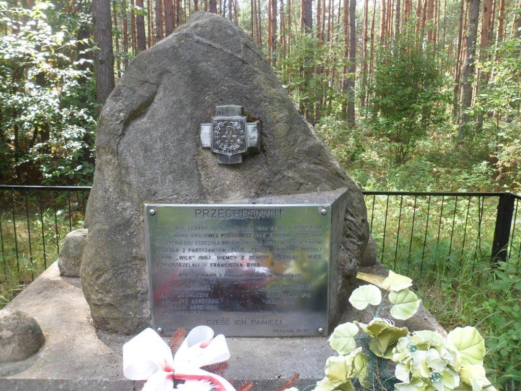 Żdżary miejsce pamięci walki partyzantów Osucha z Niemcami